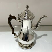Antique George Iii Sterling Silver Coffee Pot London 1763 Thomas Whipham And Charl