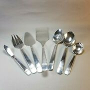 New 7pc Reed And Barton Watch Hill 18/10 Stainless Flatware Serving Set