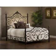 Bowery Hill Queen Metal Poster Bed In Antique Brown
