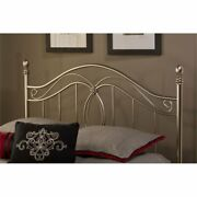 Bowery Hill Full Queen Metal Spindle Headboard In Antique Pewter