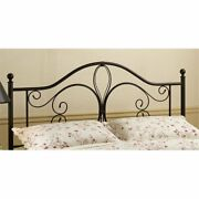 Bowery Hill King Metal Headboard With Rails In Antique Brown