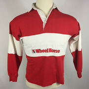 Vintage Wheel Horse Tractor Lawn Mower Farm Truck Polo Promo Work Rugby Shirt S