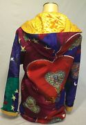 Rare Gianni Versace Vintage Colorful Long Coat 38 Collectors Made In Italy