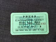 1915 World Series Ticket Pass Valid Babe Ruth 1st Ws Boston Red Sox