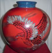Royal Doulton Flambe Osprey Vase In Decorative Sung - Ba 1