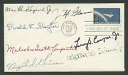 The Mercury Astronaut Signatures All 7 On Project Mercury Fdc Xf Wlm8046