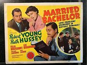 Married Bachelor Original 1941 Title Lobby Card, Robert Young, Ruth Hussey