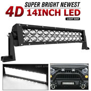 14inch Led Light Bar 168w Flood Spot Offroad 13and039and039 Driving For Jeep 4wd Rzr Atv