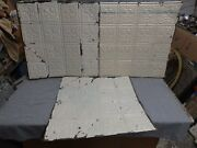 100 Sq Feet Salvaged Antique Tin Ceiling Decorative Pattern Old Vintage 55-19e