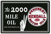 Vintage Antique Style Metal Sign Kendall Motor Oil 18x30
