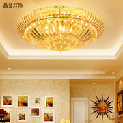 Modern Fashion Clear K9 Crystal Ceiling Lamp Led Flush Mount Fixture Lighting A