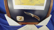 Smith And Wesson Knife Buckle And Framed Picture Set- The Hostiles By Dan Smith