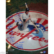 Mickey Mantle 16x20 Ny Yankee Stadium On Deck Circle Signed By 29 Ex Mlb Players