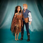 Disney Store Fairytale Designer Collection Pocahontas And John Smith Le Dolls New