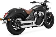 Vance And Hines Twin Slash Slip-ons For Indian 18623