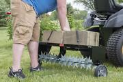 Riding Mower Tractor Pull Behind Lawn Aerator Grass Soil Spikes Universal Hitch