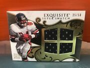 2008 Upper Deck Exquisite Walter Payton Game Worn 4 Jersey Pieces Andrsquod 50