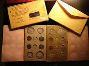 1957-pandd Double Mint Set 20 Coins In Original Mint Envelope Nicely Toned Coins