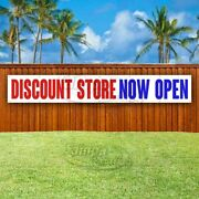 Discount Store Now Open Advertising Vinyl Banner Flag Sign Large Huge Xxl Size