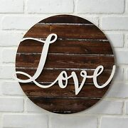 Love Wall Plaque With Farmhouse Embellishments - Sentiment Word Art Sign