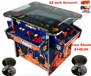 ✅ 4 Player Cocktail Arcade Machine🔥2475 Classic Games ✅ 158lb + 2 Stools New
