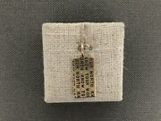Heather B. Moore Size 2, 14k Yellow Gold Know Your Worth Dog Tag