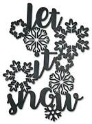 Vintage Sign Made Usa Let It Snow 18 X 25
