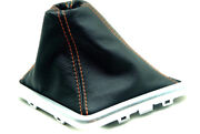 Manual Boot Leather Synthetic For Dodge Challenger Str8 Stx 08-14 Orange Stitch