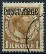 Denmark 1919 Sgp216 1k Yellow-brown Parcel Post Used Cat Andpound225 D90882