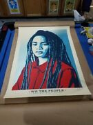 Shepard Fairey We The People Protect Each Other Large Format 30x41 Rare Ap