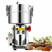2000g Commercial Electric Stainless Steel Grain Grinder Mill Spice Herb Cereal M