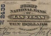 Las Vegas New Mexico Nm 1902 10.00 Ch. 2436 First National Bank Pmg 30