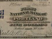 Portland Maine Me 1902 5.00 Ch. 221 First National Bank Pmg 30