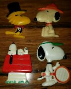 Vintage Lot 4 Snoopy Magnet Charles Schultz 1958 Refrigerator Magnet Collectible
