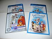 Lady And The Tramp 1 And 2 Movie Collection Disney Blu Ray+ Dvd + Digital 2018 New