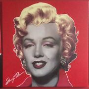 Steve Kaufman 48x48 Large Unique Ruby Red The Marilyn Signature Series Monroe