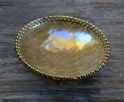 Mike And Ally Bolshoi Round Enameled Metal Bowl Bronze And Antique Gold