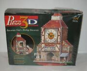 Puzz-3d Puzzle Bavarian Clock Mb 404 Pieces With Working Clock Wrebbit Free Ship