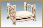 Rustic Log Dog Bed Raised Wooden Beds For Small Dogs Amish Made Furniture