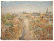Eugene Paul Ullman Oil Painting View Of Vienna Austria, St. Stephen's Cathedral