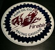 Pure Firebird Racing Gas Oil Gasoline Sign .. Free Shipping On Any 8 Signs
