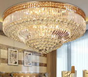 European Style Crystal Ceiling Lamps Led Chandeliers Mount Lighting Fixture A2