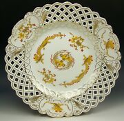 1st Quality Meissen Yellow Court Dragon 11.5 Charger