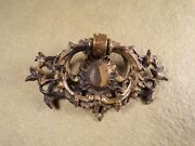 Antique Brass Victorian French Rococo Chippendale Drawer Pulls Handle Dresser