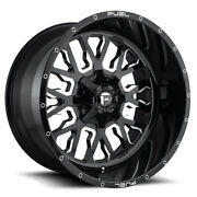 Fuel Stroke D611 24x14 5x127/5x139.7 Offset -75 Gloss Black And Milled Qty Of 4