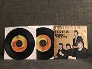 Beatles1965 0riginal Picture Sleeve+45 Ticket To Ride/yes It Is Excellent