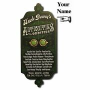 Personalized Wood Vintage Style Sign 28 Antiques Oddities