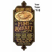 Personalized Wood Vintage Style Sign 28 Fish Market