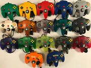 Great Nintendo 64 Controller Authentic Oem Original Cleaned Tight Stick