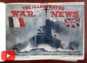 Illustrated World War I News 1914 Photographic Journal 12 Issues Large Book